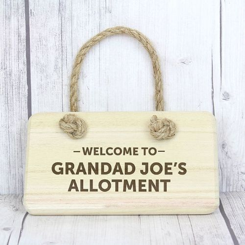 Personalised Welcome To Wooden Sign